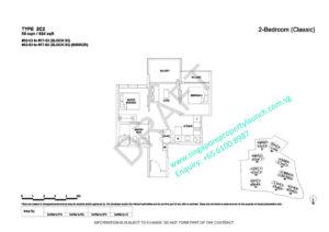 Florence Residences Floor Plan 2 bedroom Type 2C2