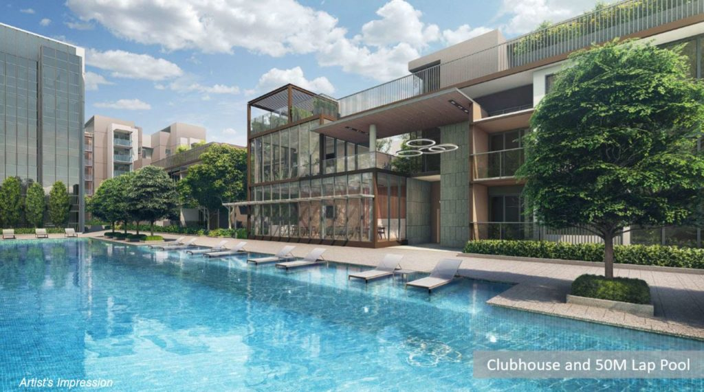 Fourth Avenue Residences Bukit Timah Clubhouse and 50m Lap Pool