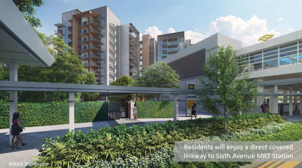 Fourth Avenue Residences Direct covered linkway to Sixth Avenue MRT Station