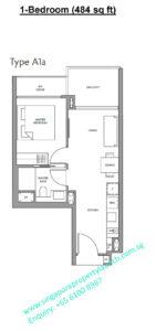 Fourth Avenue Residences floor plan 1 bedroom