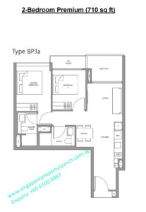 Fourth Avenue Residences floor plan 2 bedroom premium