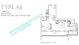 Fulcrum Condo 1 bedroom Type A4