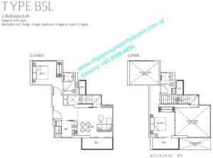 Fulcrum Condo 2 bedroom Loft Type B5L
