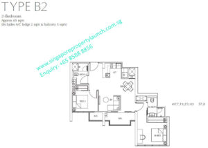 Fulcrum Condo 2 bedroom Type B2