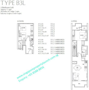 Fulcrum Condo 2 bedroom Type B3