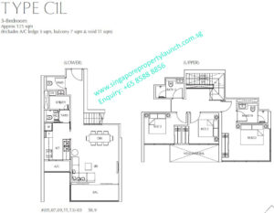 Fulcrum Condo 3 bedroom Type C1L