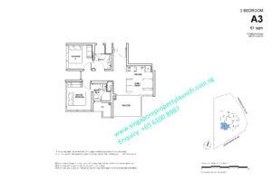Fyve Derbyshire floor plan 2 bedroom Type A3