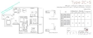 Marina One Residences 2 bedroom + Study Type 2C+S
