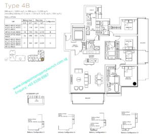 Marina One Residences 4 bedroom Type 4B