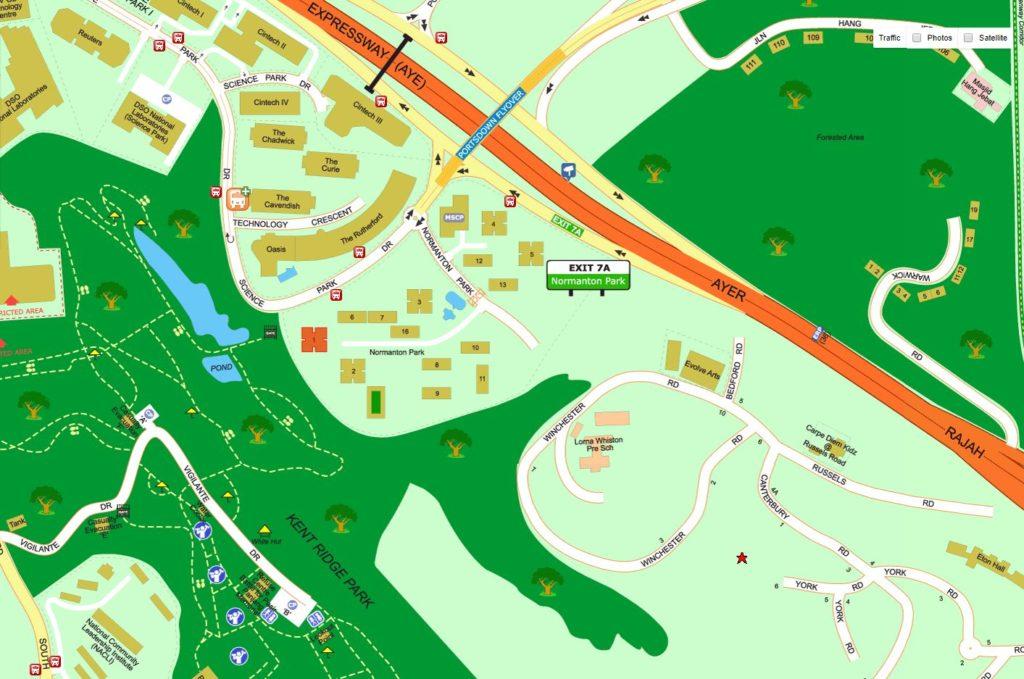 Normanton Park Condo Location map