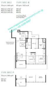 Parc Esta 2 bedroom + study Type BD2
