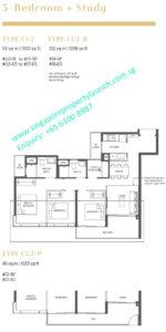 Parc Esta 3 bedroom + study Type CU2