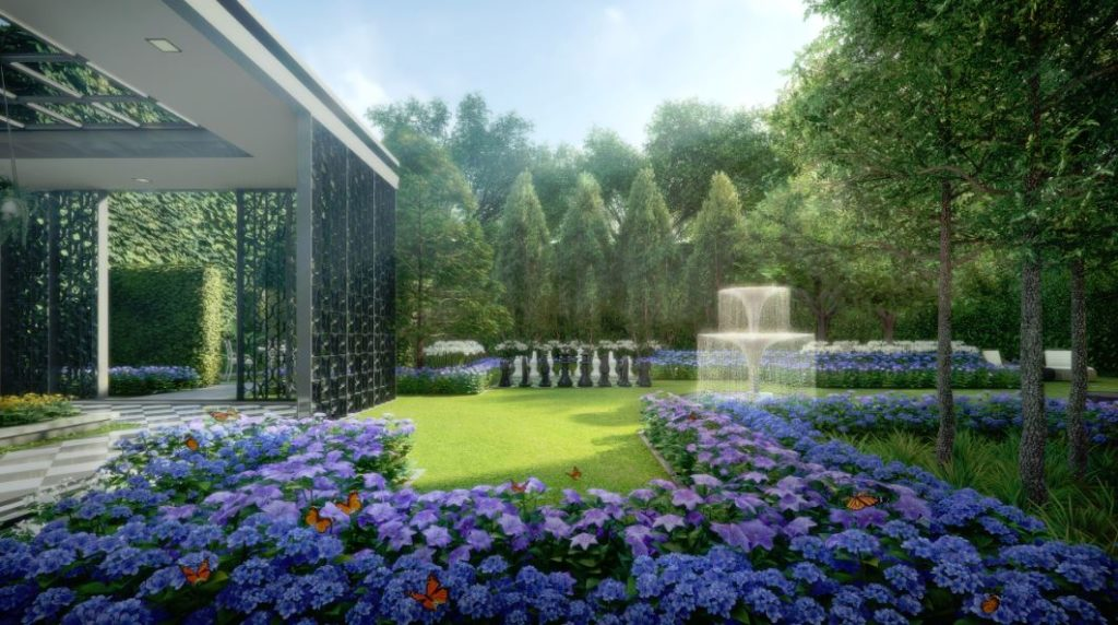 Park Colonial Woodleigh Lane CEL Development Flower Garden
