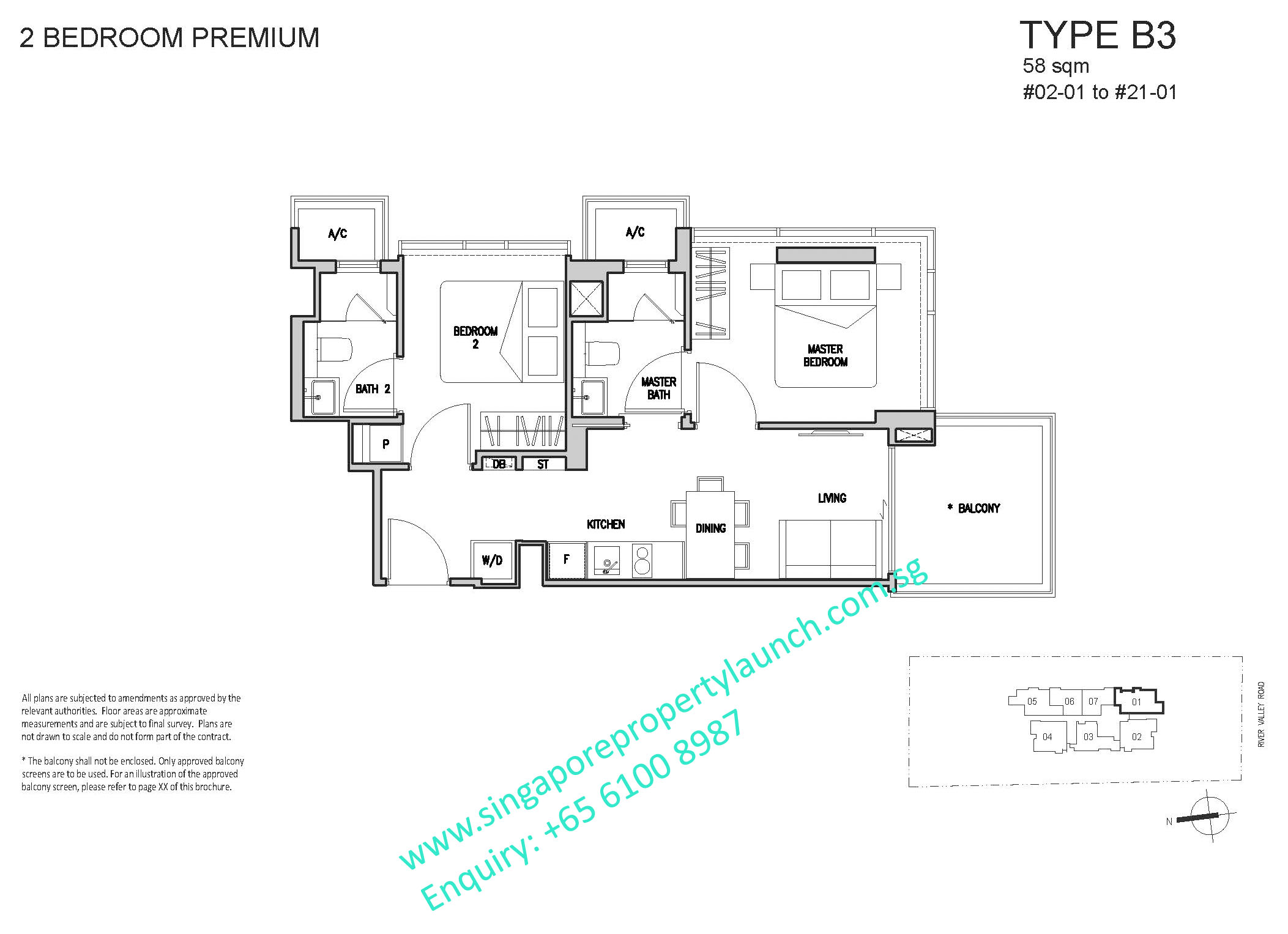 RV Altitude floor plan 2 bedroom