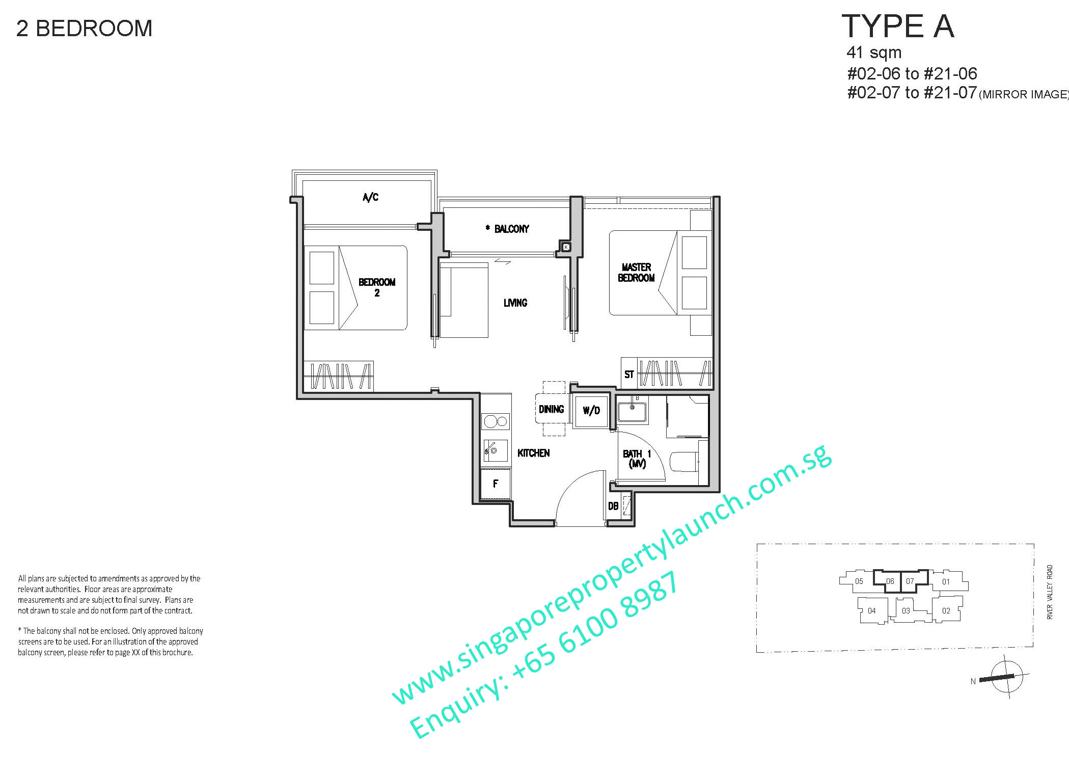 RV Altitude floor plan 2 bedroom type A