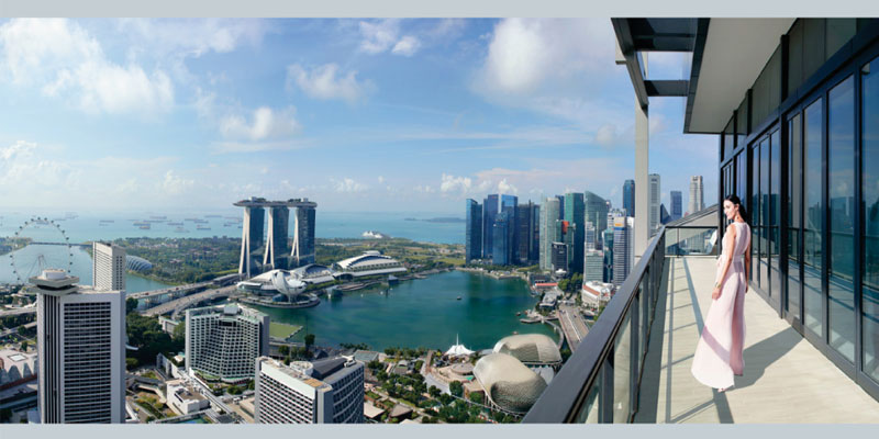 South beach residences Marina Bay Sands View