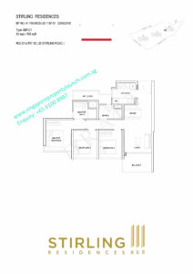 Stirling Residences floor plan 3 bedroom