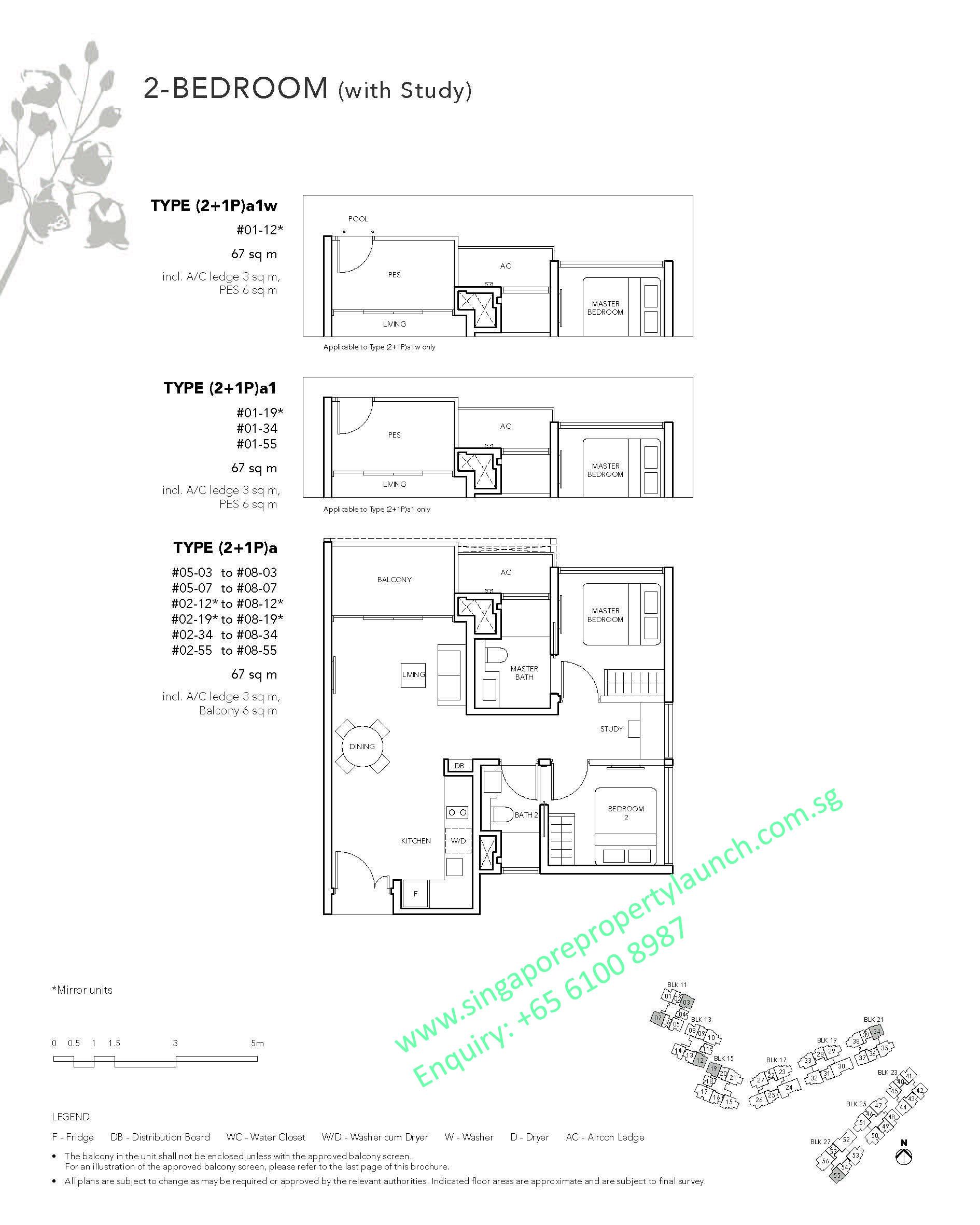The Jovell Floor Plan 2 Bedroom Study Type 2 1pa 6100 8987 Visit Showflat For Developer Price