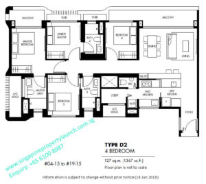 The Tre Ver floor plan 4 bedroom