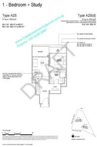 Whistler Grand floor plan 1 bedroom + study Type A2