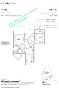 Whistler Grand floor plan 2 bedrooms Type B1