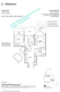 Whistler Grand floor plan 2 bedrooms Type B2