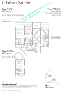 Whistler Grand floor plan 3 bedrooms dual key type C3DK
