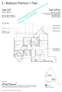 Whistler Grand floor plan 3 bedrooms premium + flexi type C2