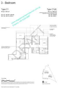 Whistler Grand floor plan 3 bedrooms type C1