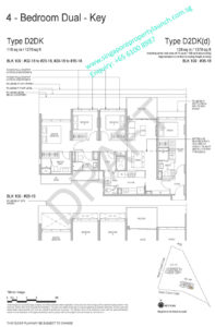 Whistler Grand floor plan 4 bedrooms dual key type D2DK
