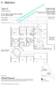 Whistler Grand floor plan 4 bedrooms type D1