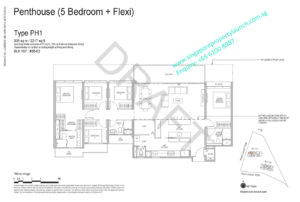 Whistler Grand floor plan 5 bedrooms + Flexi type PH1