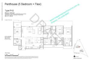 Whistler Grand floor plan 5 bedrooms + Flexi type PH2