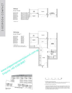 kent ridge hill residences floor plan - 2 bedroom compact type B2