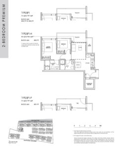 kent ridge hill residences floor plan - 2 bedroom premium type BP1