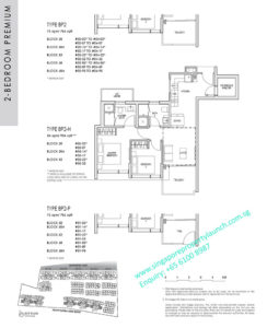 kent ridge hill residences floor plan - 2 bedroom premium type BP2