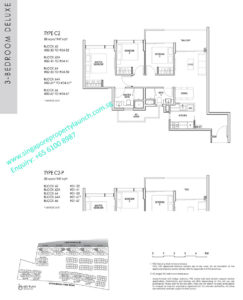 kent ridge hill residences floor plan - 3 bedroom deluxe type C2