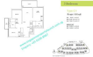 treasure-at-tampines-3-bedroom-floor-plan-C1-singapore