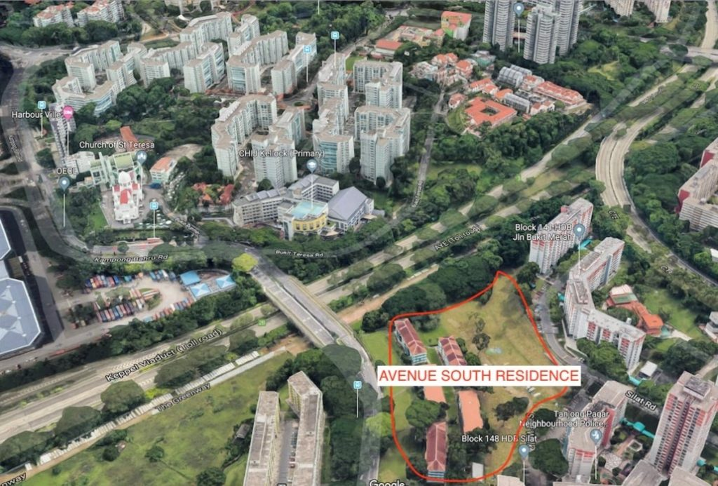 Avenue South Residence Condo Silat Avenue UOL Aerial View